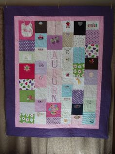 CUSTOM ORDERS for baby clothes quilts by BarbMalmTshirtQuilts on Etsy
