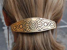 Barrette with Design 2 Handmade Jewel by Sunhury