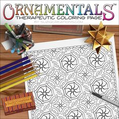 "New to CreationsBySuziQ on Etsy: Medallion Coloring Page - ""Medallion"" OrnaMENTALs #0044 PDF - Hand-Crafted Coloring Pattern (1.99 USD)"