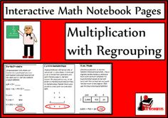 Multiplication with regrouping lesson for your interactive math notebook - newly released - includes reference sheet and 5 reflection options for $1.