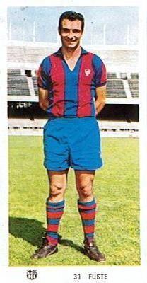 Josep Maria Fusté, born 15 April 1941, Spanish midfielder and captain, FC Barcelona (1962-1972)