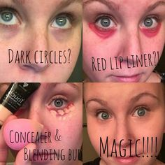 Lashes tricks pictures Covering dark circles can be super easy! lipliner in primal and concealer in organza! Covering Dark Circles, Dark Circles Under Eyes, Dark Under Eye, Concealer For Dark Circles, Eye Circles, Beauty Hacks Lips, Beauty Hacks For Teens, Beauty Secrets, Beauty Tips