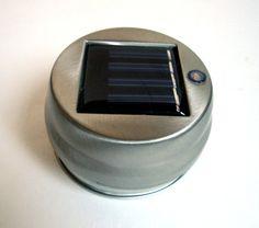 Mason Jar Solar Light Lantern LID  High by TheCountryBarrel, $12.00