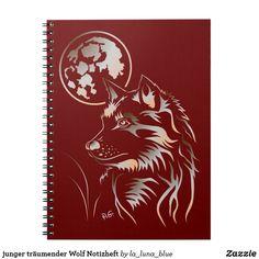 junger träumender Wolf Notizheft Notizblock Wolf, Moose Art, Movie Posters, Animals, La Luna, Wolves, Map Invitation, Guys, Animales