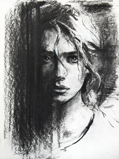 Supreme Portrait Drawing with Charcoal Ideas. Prodigious Portrait Drawing with Charcoal Ideas. Easy Charcoal Drawings, Charcoal Sketch, Charcoal Drawing Tutorial, Abstract Charcoal Art, Portrait Sketches, Pencil Portrait, Self Portrait Art, Pencil Art Drawings, Art Drawings Sketches