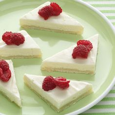 Light  Easy Cheesecake Bars Recipe. Made this last night. Delicious and so easy