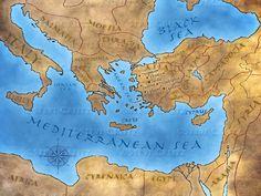REVELATION — Creitz Illustration Studio Map Of The Mediterranean, Heaven Art, Ephesus, Finding God, The Seven, Christ, Bible, Messages, Studio