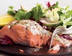Mustard-Glazed Salmon With Lentils Recipe — Dishmaps