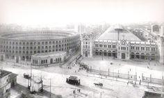 Plaza de Toros y estación del Norte 1920