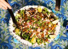 The Ultimate Chicken Tamarind Salad with spiraled zucchini