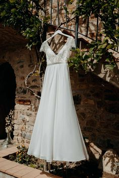 43527441c3f Lace and Chiffon Wedding Gown — Truvelle Chiffon Wedding Gowns