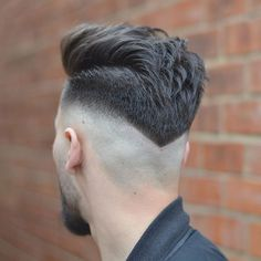 Shaved Neck Taper + Brushed Back Hair