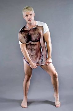 ►Francois Sagat's silly/sexy T-shirt design