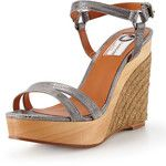 Lanvin Printed Metallic Espadrille Wedge