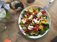 salade met mango en brie iPhone foto