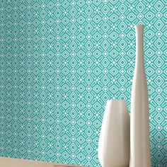 Retro and geometric designs with this grey geometric wallpaper from Rasch. The Rasch Revival collection is in stock at Go Wallpaper UK. Geometric Wallpaper Metallic, Teal Wallpaper, Geometric Pattern Design, Geometric Designs, Brick Wallpaper Feature Wall, Brick Design, Luxury, Rolls, Ebay