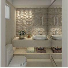 Trendy Small Master Bathroom Remodel With Tub Powder Rooms Apartment Bathroom Design, Bathroom Design Luxury, Bathroom Design Small, Diy Bathroom Remodel, Interior Design Kitchen, Modern Bathroom, Master Bathroom, Bathroom Inspiration, House Design
