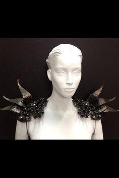 Shoulder piece I made for Nicki Minaj for VIBE mag. Marianna Jewelry, Vibe Magazine, Higher Art, Raven Queen, Cosplay Tutorial, Body Adornment, Body Armor, Dressed To Kill, Nicki Minaj