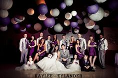 Purple and Grey Wedding Love love love it!!!! I think this is the winner:)