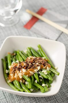 Green Beans with Spicy Peanut Sauce - 20 Chinese Recipes You Need to Try Out in 2015 | Omnivore's Cookbook