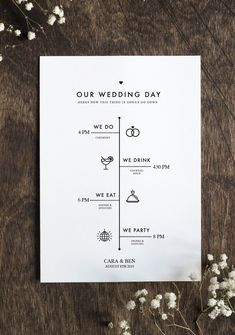 Printable DIY Wedding Fan Program