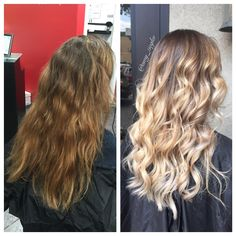 Before & After Blonde Balayage/Ombre by @amy_ziegler