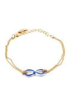 Infinity Bracelet in Blue Wash