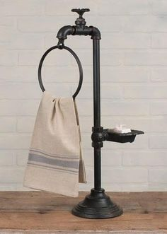 Farmhouse Soap and Towel Holder - Retro Barn Country Linens