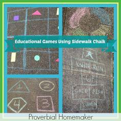 Educational Games Using Sidewalk Chalk