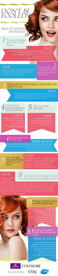 beauty myths via pretty connected