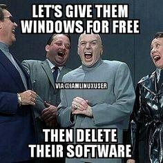 Microsoft being Microsoft. Look out fit another post-new year special  #lol #laugh #linux #linuxlife #linuxjokes #linuxcomics #Linuxtrolls #linuxisbetter #iamlinuxuser #gnu #funny #fedora #fun #tech #trolls  #memes #mssucks #microsoft #apple #archlinux #debian #ubuntu  #cool #computer #computers #computerjokes #computermemes #joke #jokes