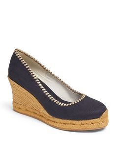 Palmer Wedge Canvas Espadrilles by Jack Rogers at Neiman Marcus Pump Shoes, Pumps, Heeled Espadrilles, Jack Rogers Sandals, Celebrity Travel, Celebrity Style, Bean Boots, Wedge Heels, Neiman Marcus
