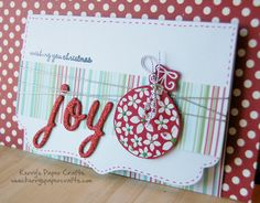 I like the use of string on this card.
