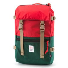 Topo Designs Rover Pack Forest / Red rot / grün