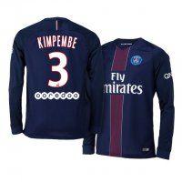 PSG Home 16-17 Season LS #3 Kimpembe Blue Soccer Jersey
