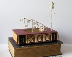 ON SALE Book Art Christmas Tree Book Sculpture by MalenaValcarcel