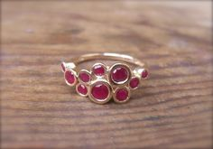 Ruby CC ring in recycled 14k gold by