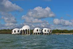 Dome houses at Cape Romano, near Marco Island , Florida