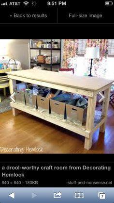 DIY craft table inspiration