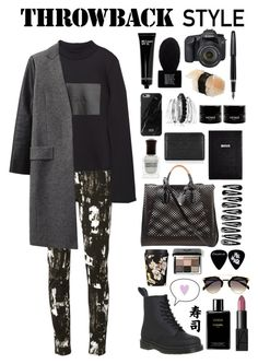 """""""Throwback Style: Dr. Martens"""" by itsmytimetoshinecoco ❤ liked on Polyvore featuring moda, Dr. Martens, McQ by Alexander McQueen, Zara, Alexander Wang, Jil Sander, Avenue, Make, Native Union ve Bobbi Brown Cosmetics"""