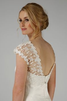 A stunning shrug made with Guipure lace with a plunging back and high neckline. Finished off with a sparkling crystal button. Bridal Shrugs, Lace Shrug, Fur Fashion, Vintage Looks, Faux Fur, Wedding Dresses, Winter, Design, Style