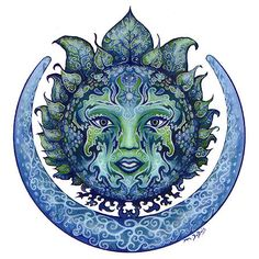 Cool Hippie Stickers Hippy Decals Vinyl Decals for Cars Mandala Sticker: This is a cool hippie sticker. Sun Moon Stars, My Sun And Stars, Sol Mandala, Moon Goddess, Illustration, Moon Art, Moon Child, Blue Moon, Wiccan