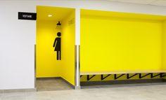 #signage #wayfinding #toilet #details #yellow #black #signaletique…