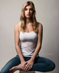 Shoot, model, jeans, denim, photoshoot, studio, pose, blonde,