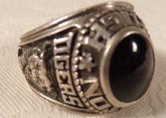 47383ea82 1982 Taunton MASS High School Ring Balfour Onyx Stone STerling Silver Mens  SZ 9 #balfour #mens