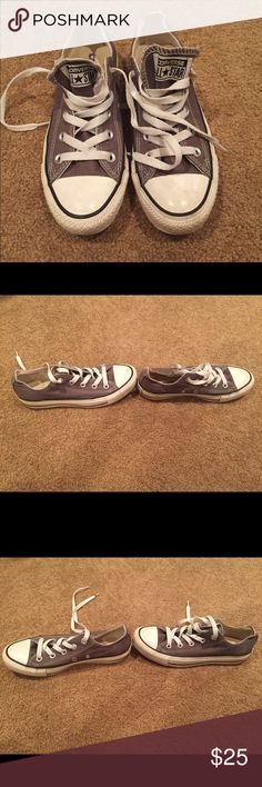 Low top Grey Converse Gently worn, too small for me so only been worn a few times. Size men's 4, women's 6 Converse Shoes Sneakers