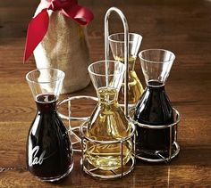 This is an absolute must have in my house!!!!  Wine Tasting Decanter Set #potterybarn