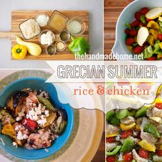 grecian summer rice and chicken | the handmade home