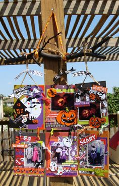 halloween decor... - papers and embellies by reminisce... tami sanders,halloween project,altered halloween,halloween,halloween wall