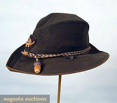 Ny Regiment, Civil War Hardee Hat, C. 1861, Augusta Auctions, March/April 2005 Vintage Clothing & Textile Auction, Lot 537